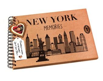 New York Photo Album Scrapbook, Keepsake, Travel Gift Idea, USA, America, Photo Book, Christmas, Valentines, Honeymoon