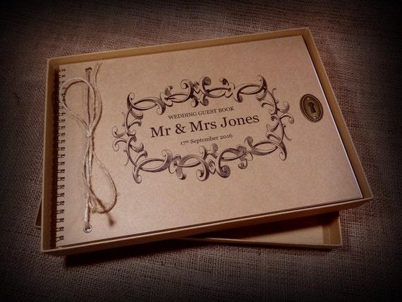 Personalisierte Vintage Hochzeit Gastebuch Album Scrapbook Etsy