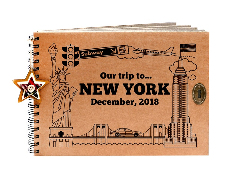 Personalised New York Scrapbook Travel Photo Album