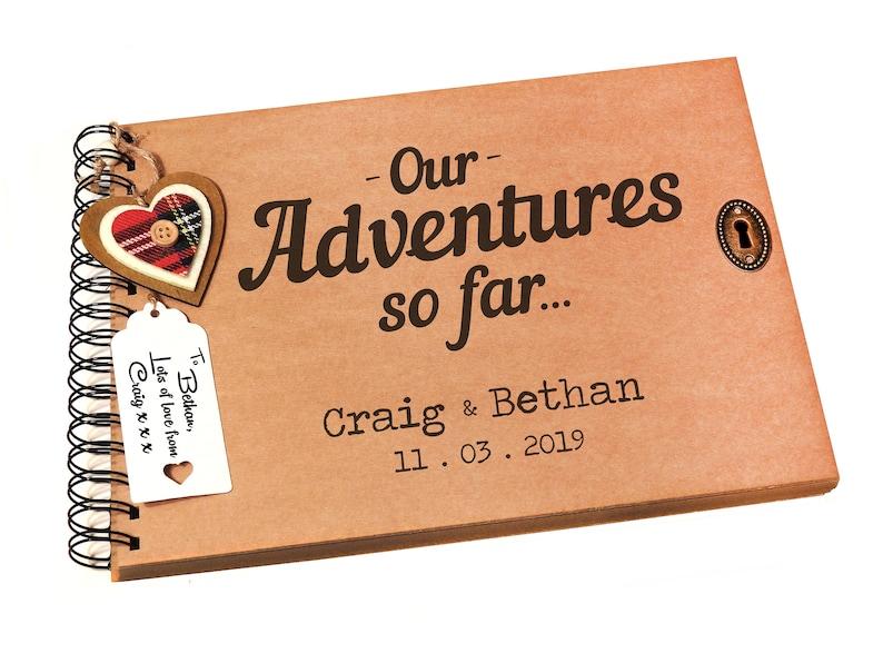 Personalised Holiday Honeymoon Travelling Photo Album Memory Book Keepsake Gift