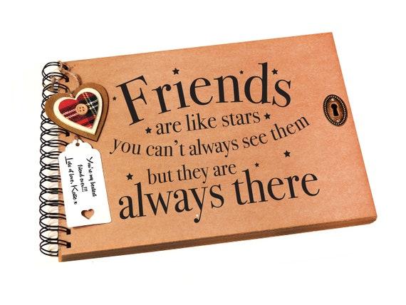 a4 scrapbook friends are like stars keepsake photo book etsy
