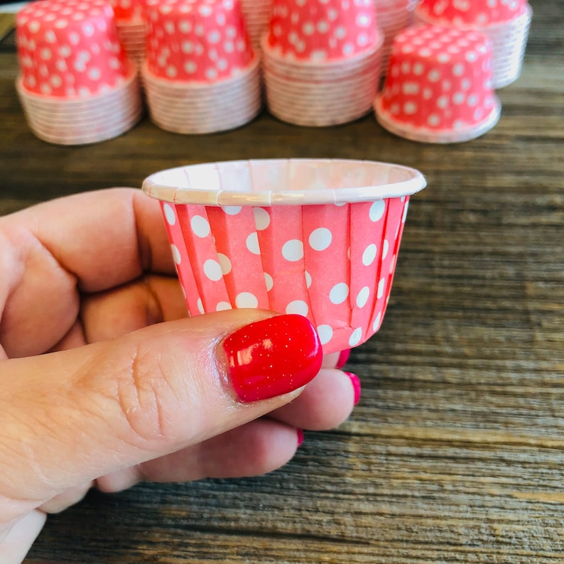 Mini Ice Cream Cup Gender Reveal Candy Cups 100 Bulk Pink and Blue Snack Cups Paper Nut Cup Free Shipping Nut Cups Bulk Party Supply