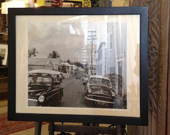 Great Vintage Regional Black and White Photo Print of Coral Island, Bermuda