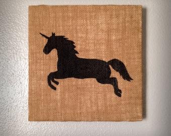 Unicorn - Salvaged Material Wall Art