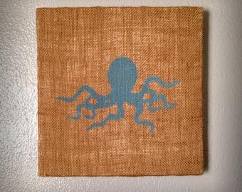 Octopus - Salvaged Material Wall Art