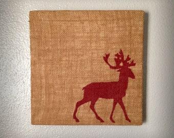 Deer - Salvaged Material Wall Art