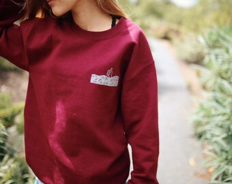 I'm Good thumbs up sweatshirt in burgundy