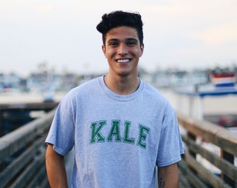 Kale short sleeve tee-shirt in heather gray