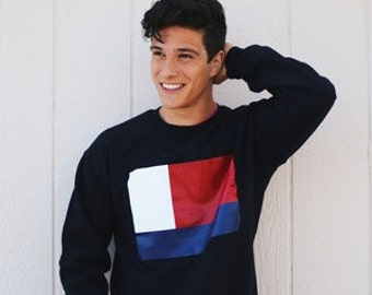 Flag Sweatshirt in black