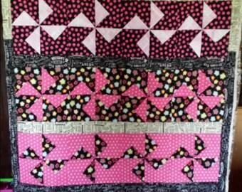 """6"""" 3-d pinwheel quilt"""
