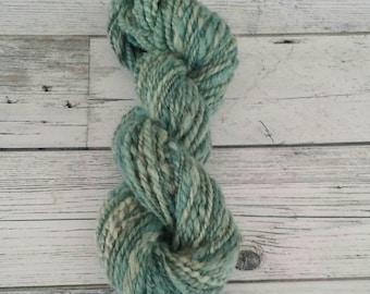 Hand painted, Handspun, Saxon Blue yarn 78g