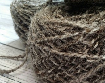 Handspun Blended Jacob wool yarn,50g, 1.8 ounces