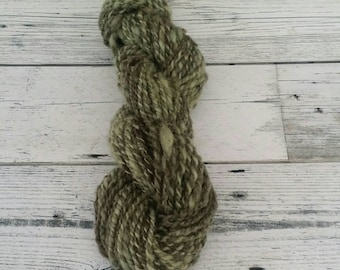 Handspun yarn, Elder leaves and  Nettle extract with Wood Ash modifier, 59g