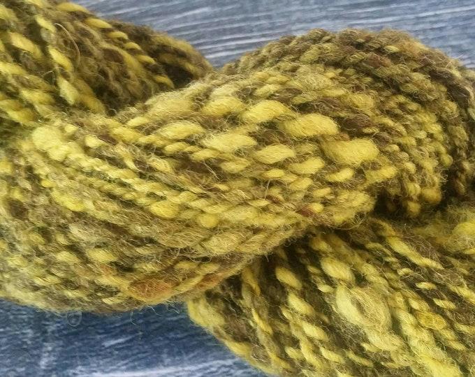 Weld dyed Handspun Yarn 67g