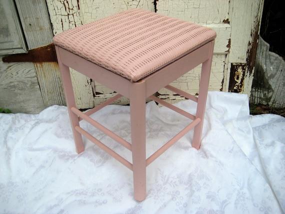Roze Slaapkamer Stoel : Roze opslag bank hout rieten stoel opslag kruk slaapkamer etsy