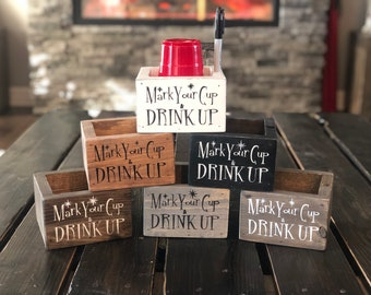 Sassa's Solo Cup Holder / Party Cup Holder / Mark Your Cup and Drink Up / Sharpie / Holiday / Housewarming Gift