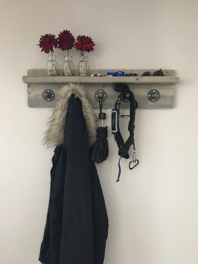 Casey Industrial Pipe Coat Rack / Rustic Coat Rack / Coat Rack image 0