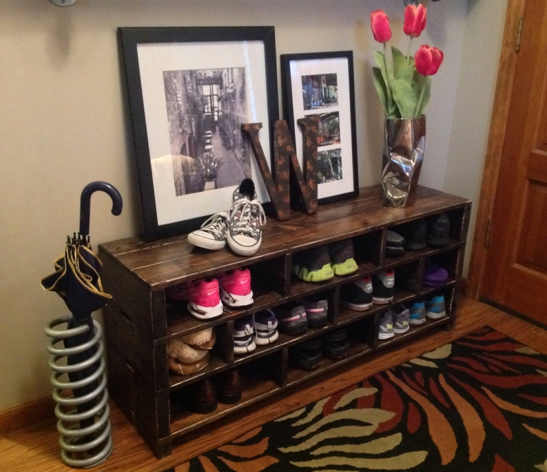 Jenny Shoe Storage Bench Shoe Rack Boot Storage Bench Etsy