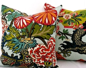 Pair of Chiang Mai Dragon Pillow Covers