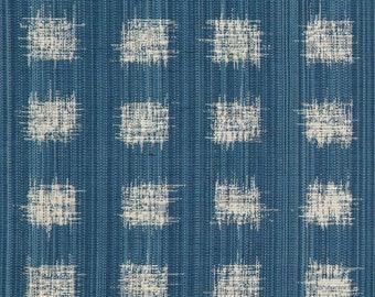 Gridded Ikat Pillow Cover in Ocean Blue