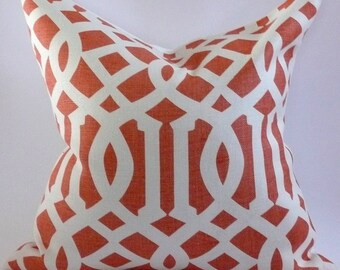 Imperial Trellis Pillow Cover in Mandarin