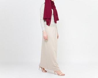 Hijab Obsessions Ponte Maxi Skirt Stone Clearane