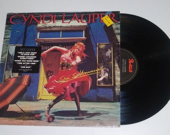 80s Cyndi Lauper She's So Unusual vinyl shrinkwrap new wave synth pop hit dance CBS Portrait full length She Bop Time After LP record album