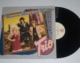 80s Trio vinyl Dolly Parton Linda Ronstadt Emmylou Harris full length LP album record hit pop country Grammy Award Warner Bros