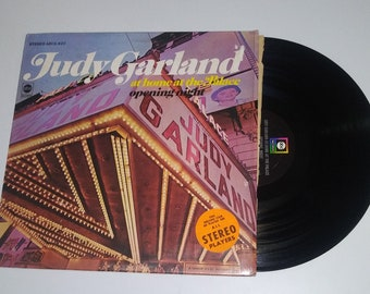 Judy Garland The Palace vinyl Over The Rainbow full length LP album At home At The opening night shrink wrap hit diva record