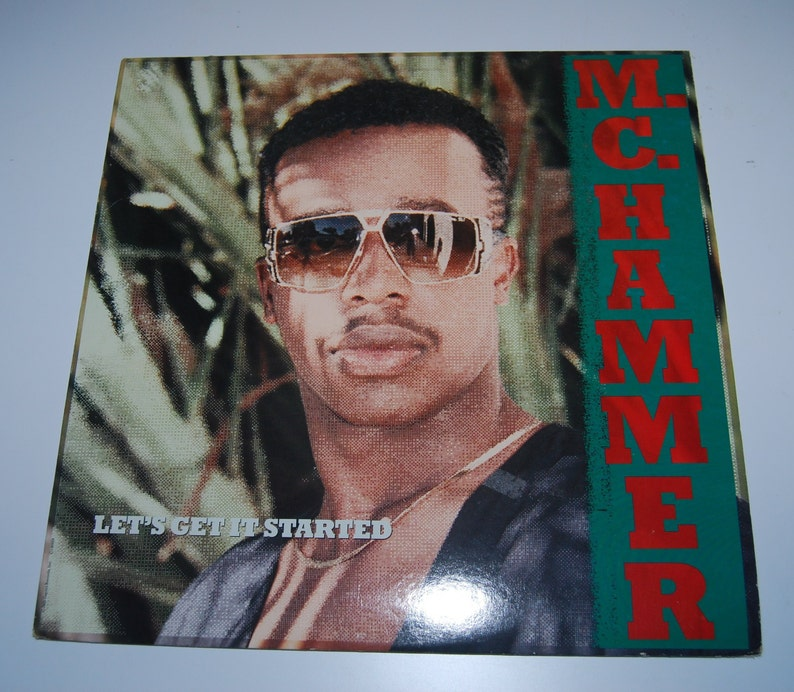 80s MC Hammer Let's Get It Started record hip hop rap Capitol Records Pump It Up Turn This Mutha Out full length LP album