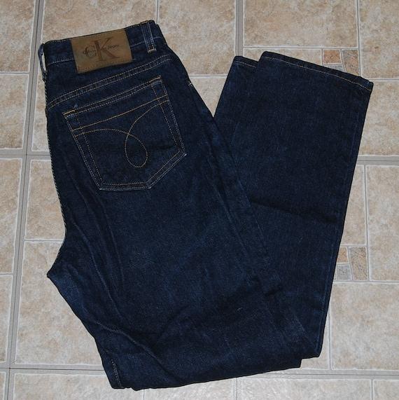 90 s Calvin Klein jeans 8 denim bleu foncé CK femmes classique  66bf0939f38