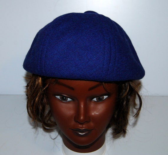 Jaeger beret blue London unisex hat cap french mod