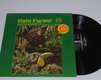 Walter Wanderley Rain Forest vinyl exotic tiki LP Brazil record Bossa Nova Latin Jazz LP Exotic Exotica 1960s 60s Samba lounge instrumental