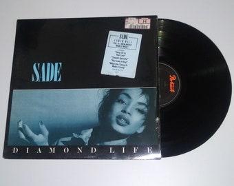 80s Sade Diamond Life vinyl Smooth Operator Portrait Jazz shrink sophisti-pop full length LP album record hype sticker