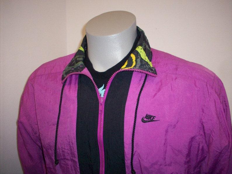 ec30417206bf 90s Nike Elite windbreaker jacket large neon purple colors black vtg  basketball ... 90s Nike Elite windbreaker jacket large neon purple colors  black vtg ...