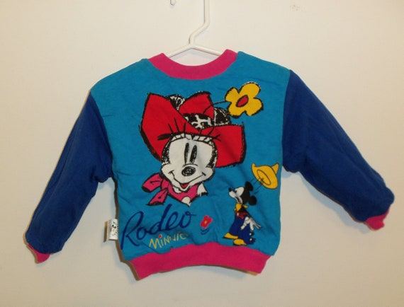 90s Mickey Minnie Mouse sweatshirt 2T reversible b
