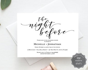 The night before wedding rehearsal dinner invitation card pdf etsy the night before wedding rehearsal dinner invitation card pdf editable template the night before our special day rustic floral tec4491 stopboris Images