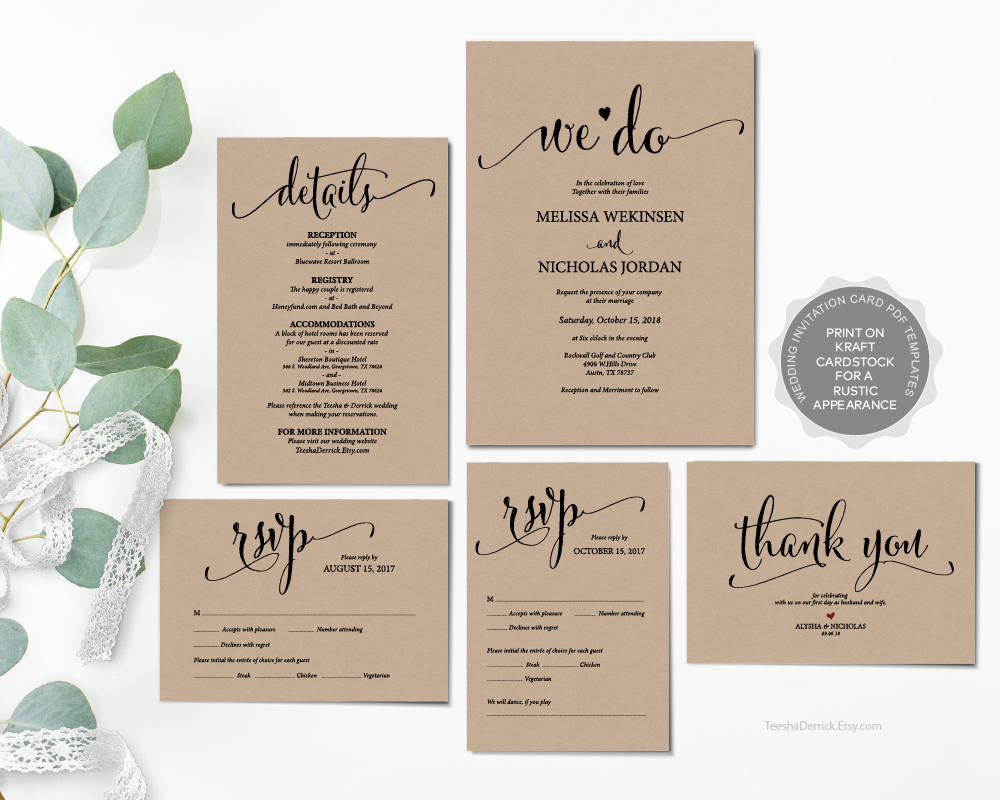 We do wedding invitation cards suite instant download pdf etsy zoom stopboris Choice Image