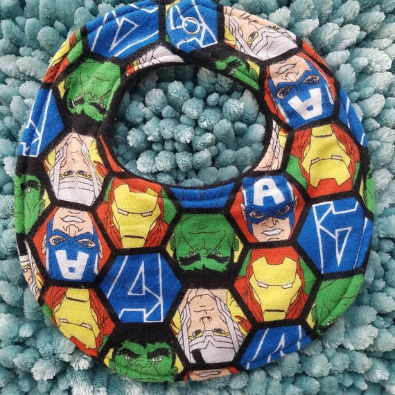 95dd2518d93 Avengers baby boy girl drool bib toddler drool bib character