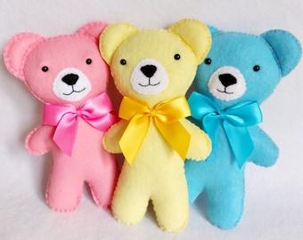 Little Felt Bear PDF Sewing Pattern - Easy to Sew