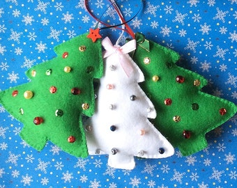 Felt Christmas Tree PDF Sewing Pattern- Instant Download - Easy to Sew