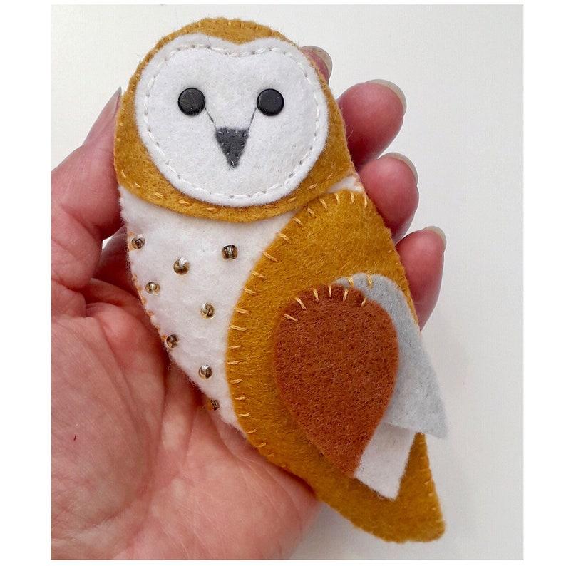 Barn Owl Feltie PDF Sewing Pattern Instant Download Easy ...