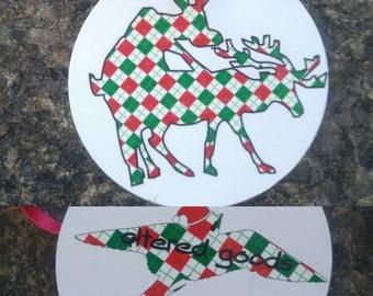 Humping reindeer ornament