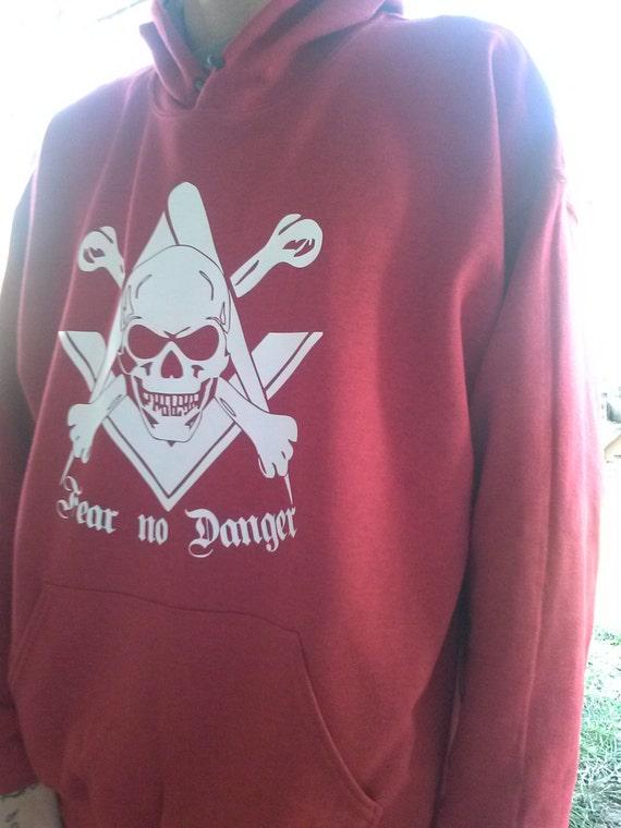 Freemason fear no danger square and compass sweatshirt TkYfcd9hJ