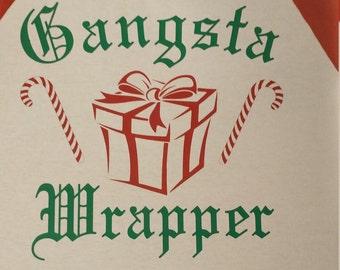 Gangsta wrapper raglan T