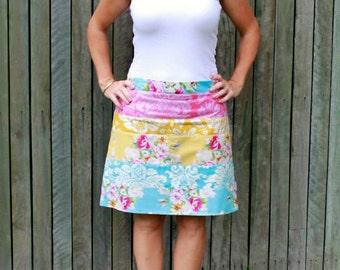 Strip Quilt Skirt pattern - ladies' skirt  - PDF pattern