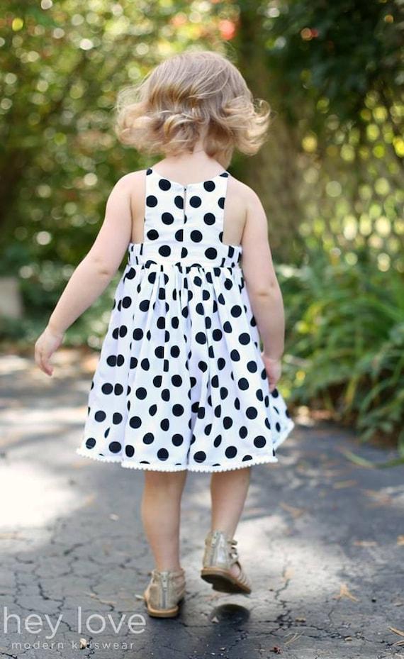 Baby Hourglass Dress girls' summer dress PDF pattern