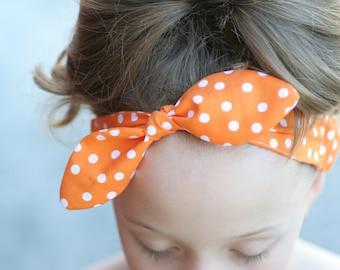 Knotted Head Scarf - retro headband - PDF pattern
