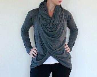 Sunset Infinity Scarf Cardigan pattern: ladies cardigan - PDF sewing pattern