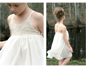 Hummingbird Dress - girls' summer dress - PDF pattern